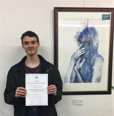 Congratulations Darren Coventry, winner of Falcone & Adams 2019 sponsored Watercolour Prize
